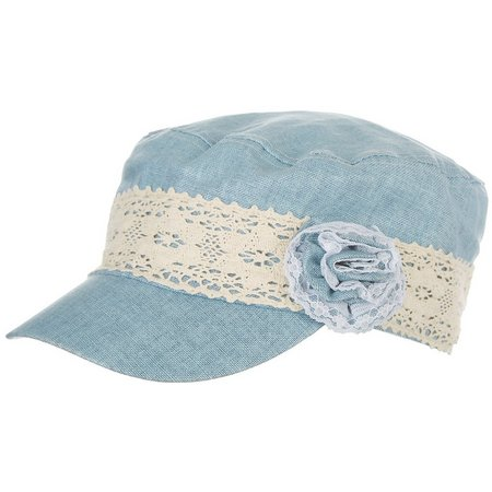 Bay Studio Womens Lace Band Linen Military Hat