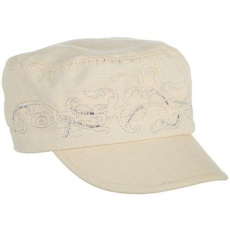 Capelli Womens Canvas Military Hat  97ddbca8064