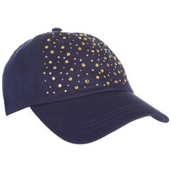 Coral Bay Womens Navy Blue Scatter Baseball Hat