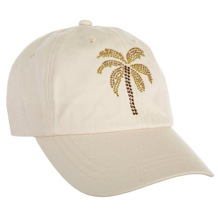 Coral Bay Womens Palm Tree Sand Baseball Hat