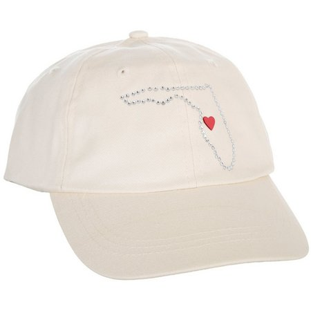 Coral Bay Womens Love Florida Baseball Hat