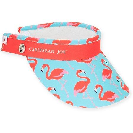 Caribbean Joe Womens Flamingo Visor