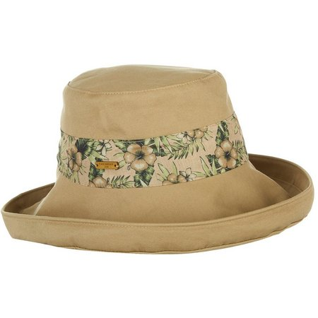 Caribbean Joe Womens Tropical Print Band Hat