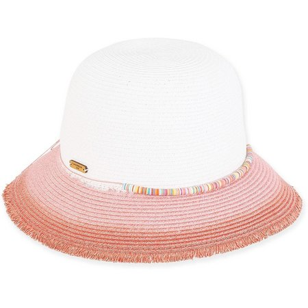 Caribbean Joe Womens Ombre Brim Paper Braid Sun