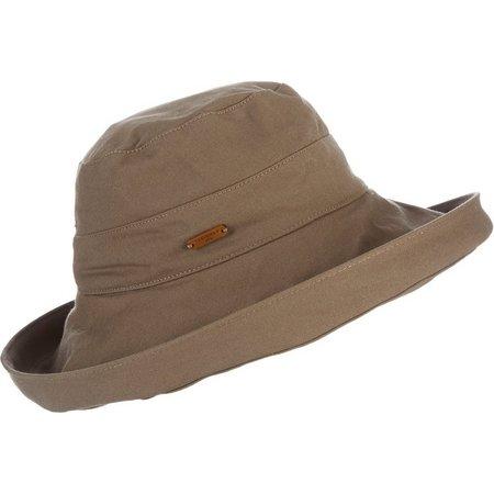 Caribbean Joe Womens Solid Up Brim Hat