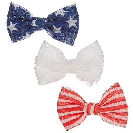 Lulu 3-pc. Stars & Stripes Hair Bow Set