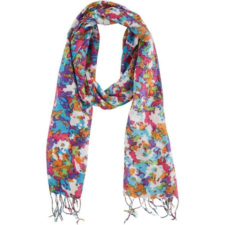 Betseyville Womens Floral Camouflage Scarf