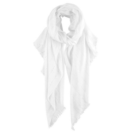 Betseyville Womens Solid White Scarf