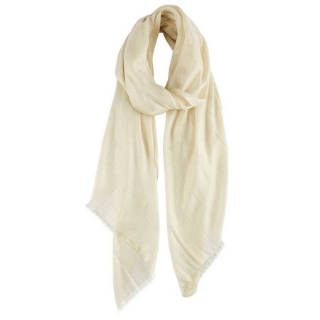 Betsey Johnson Womens Solid Ivory Scarf