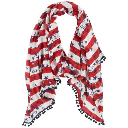 Betseyville Womens American Galaxy Scarf