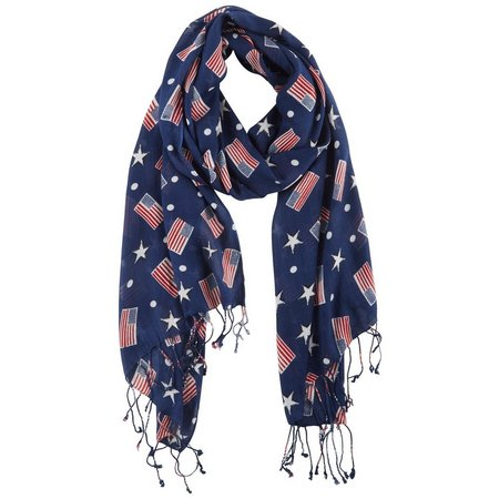 Betseyville Womens Floating Flags Scarf