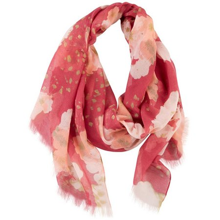 Betseyville Womens Bold Poppies Scarf