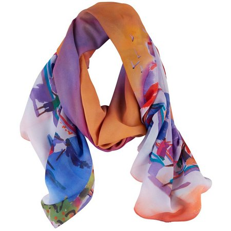 Ellen Negley Womens Sailboat Sunsets Scarf