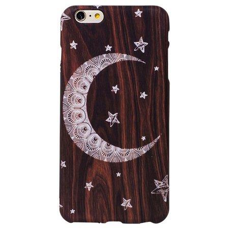 ANKIT Wood Moon & Star Phone Case