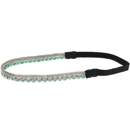 Capelli Womens Mint Green Suede Headband