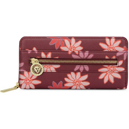 Anne Klein New Recruits Merlot Floral Wallet