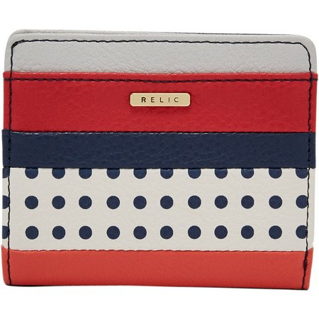 Relic Takeaway Blue Dots Bi-fold Wallet