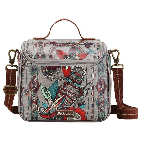 Sakroots Womens Owl Crossbody Cooler