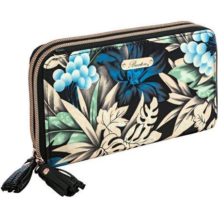 Buxton Luxe Botanical RFID Organizer Crossbody Handbag