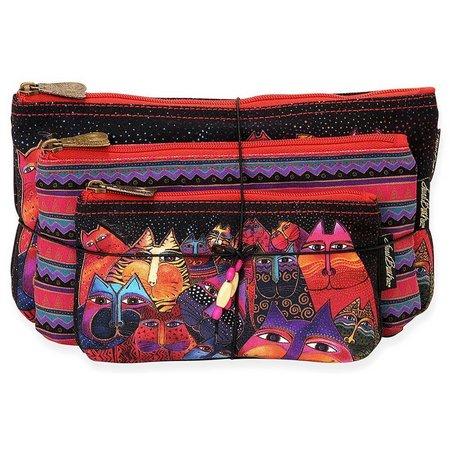 Laurel Burch Fantasticats 3-pc. Cosmetic Bag Set