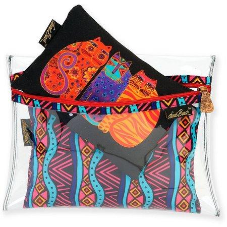 Laurel Burch 3-pc. Feline Friends Cosmetic Bag Set