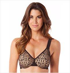 Olga Sheer Leaves Minimizer Underwire Bra