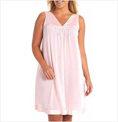 Vanity Fair Sleeveless V-Neck Nightgown