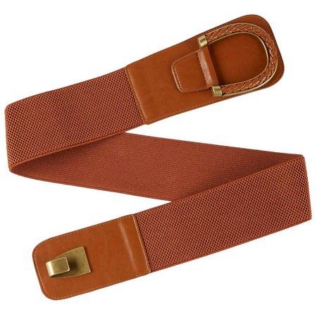Bay Studio Womens Wide Stretch Braided Tab Belt