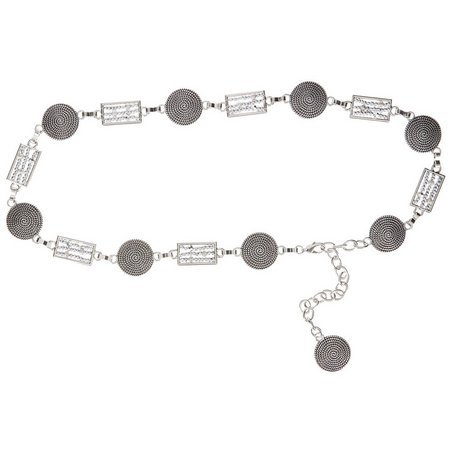 Bay Studio Womens Disc & Beads Chain Belt