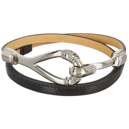 Bay Studio Womens Mini Snake Print Belt