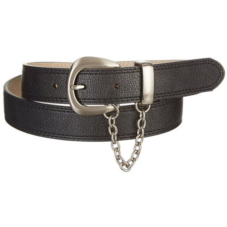 Bay Studio Womens Chain Accent Textured Belt