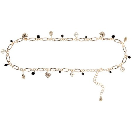 Bay Studio Womens Charm & Beads Chain Belt