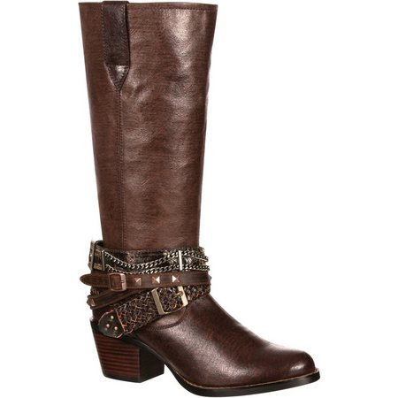 Durango Womens Tall Accessorize Cowboy Boots