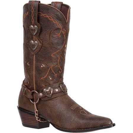 Durango Womens Heart Buckle Cowboy Boots