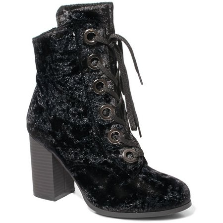 2 Lips Too Womens Too Legend Velvet Bootie