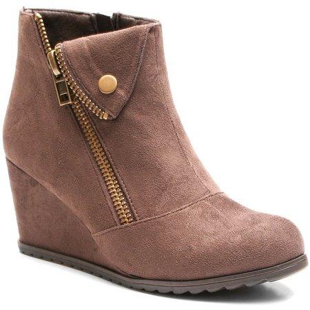 2 Lips Too Womens Too Nine Wedge Boots