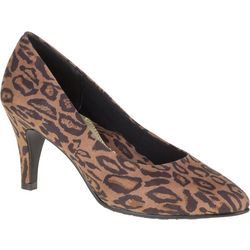 Soft Style Womens Mabry Chic Leopard Pumps