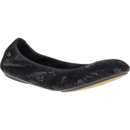 Hush Puppies Womens Chaste Ballet Suede Flats