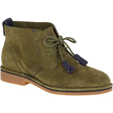 Hush Puppies Womens Cyra Catelyn Olive Booties