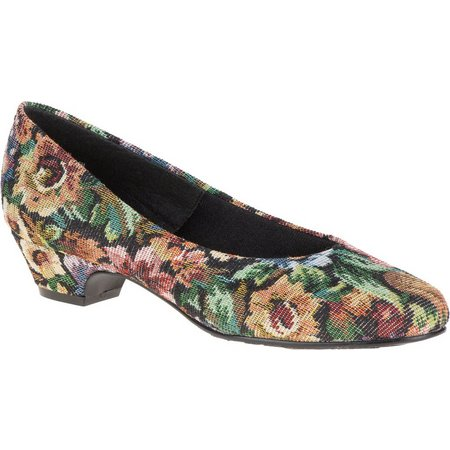 Soft Style Womens Angel II Floral Pumps