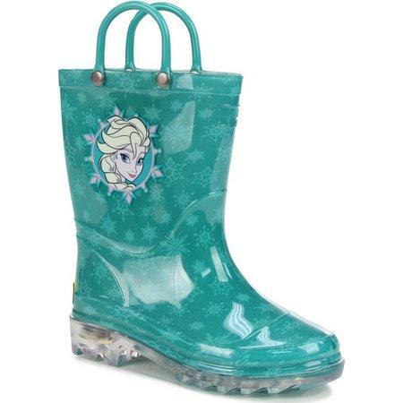 Disney Frozen Icy Elsa Toddler Girls Rain Boots