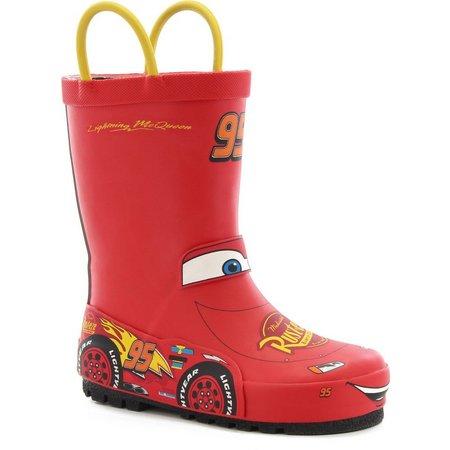 Disney Lighting McQueen Little Boys Rain Boots