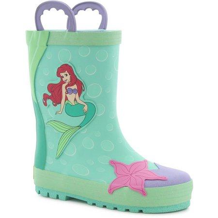Disney Ariel Little Girls Rain Boots