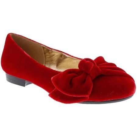 Bellini Womans Bustle Velvet Ballet Flats