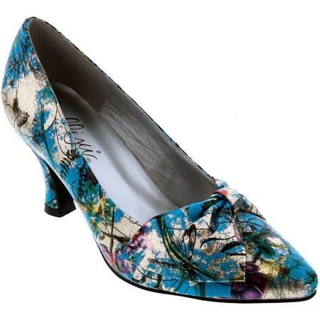Bellini Womens Charm Bow Floral Heels
