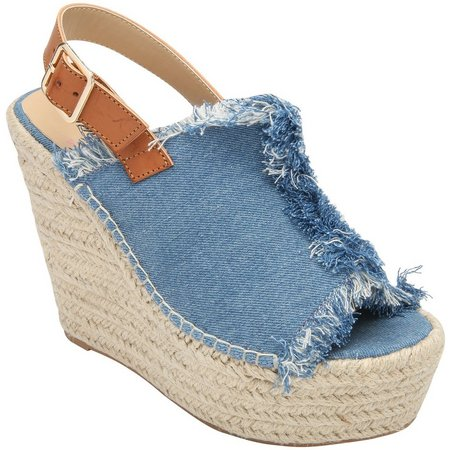 Penny Loves Kenny Womens Notch Wedge Sandals