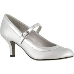 Easy Street Womens Cecelia Silver Pumps