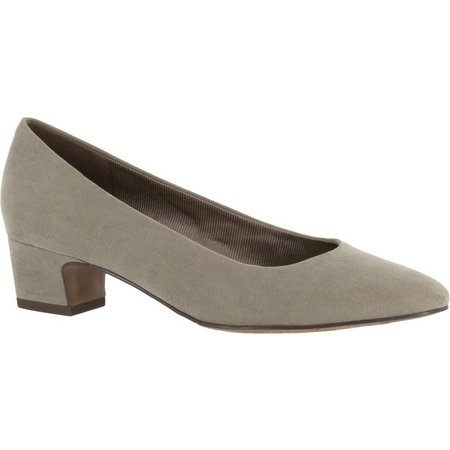 Easy Street Womens Prim Stone Suede Pumps