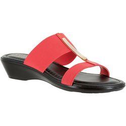 Easy Street Womens Adda Wedge Slide Sandals