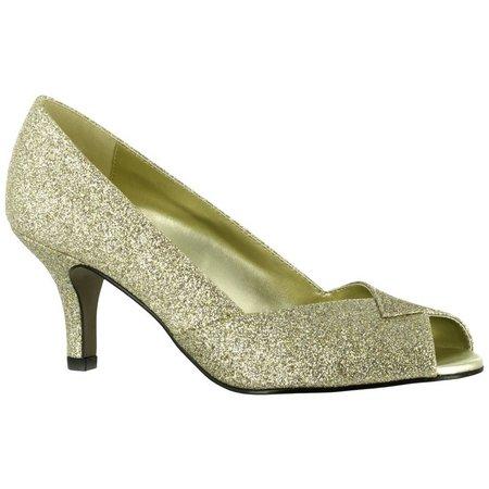 Easy Street Womens Ravish Glitter Dress Pumps